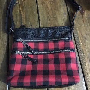 Buffalo plaid purse